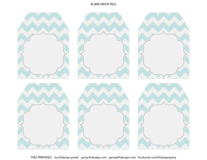 free printable baby shower favor tags template - free chevron party printables from thdezign party catch