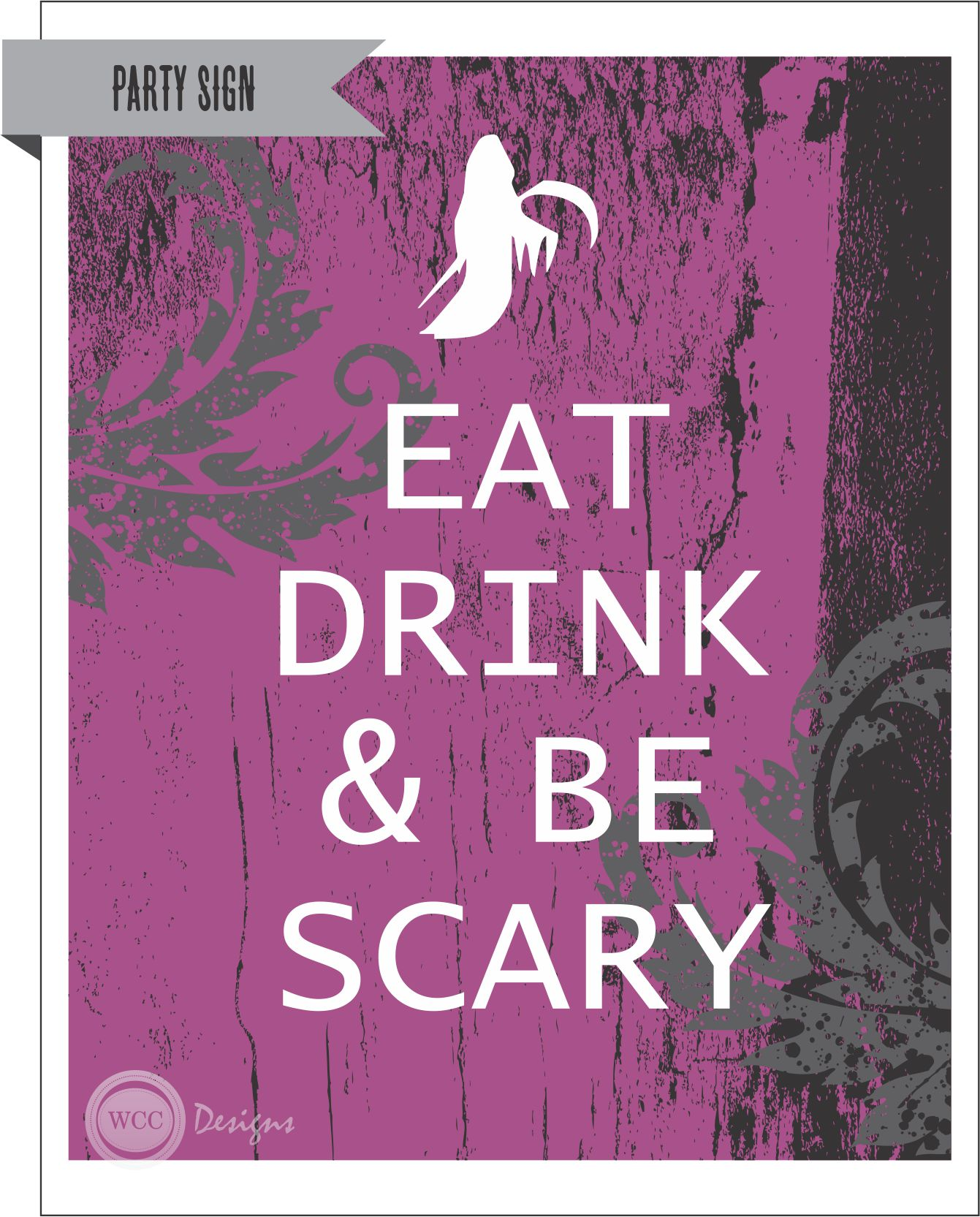 FREE Halloween Party Printables from WCC Designs | Catch My Party