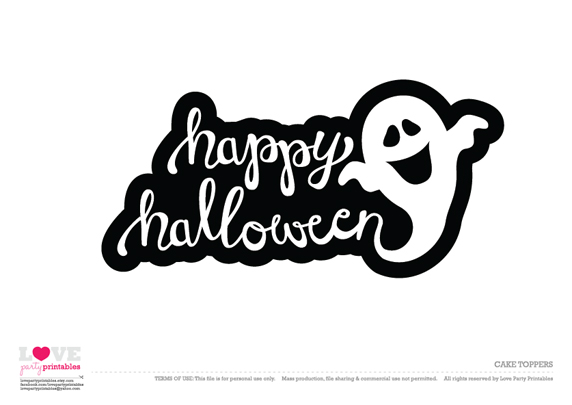 Free Halloween Party Printables From Love Party Printables