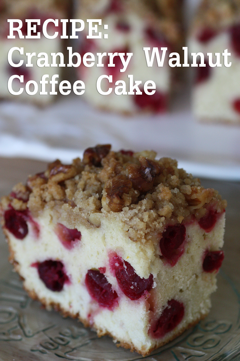 Cranberry Orange Streusel Coffee Cake