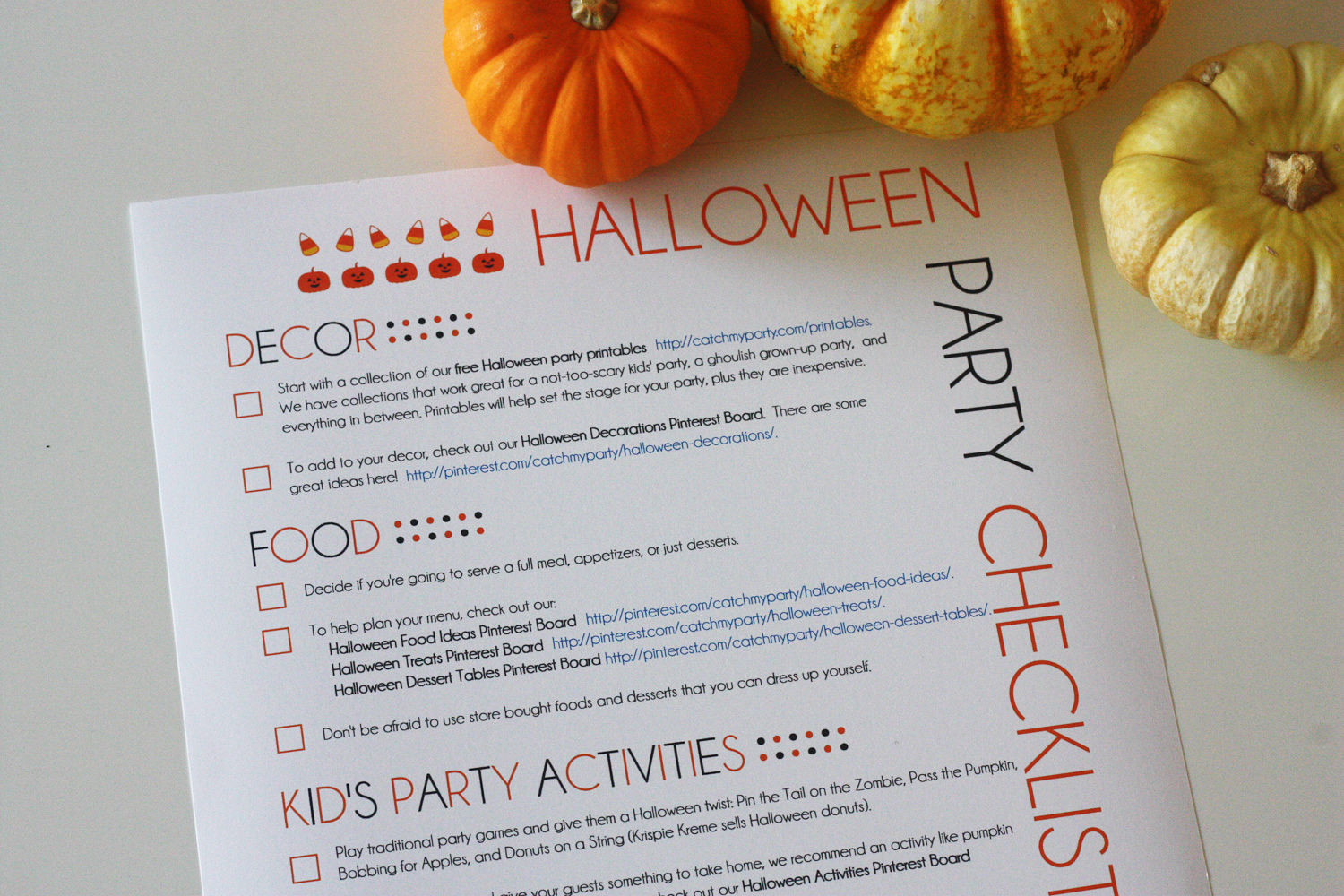 My Printable Halloween Party Planning Guide | Catch My Party