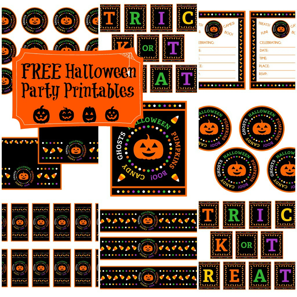 """FREE """"Candy Corn"""" Halloween Party Printables from Printabelle"""