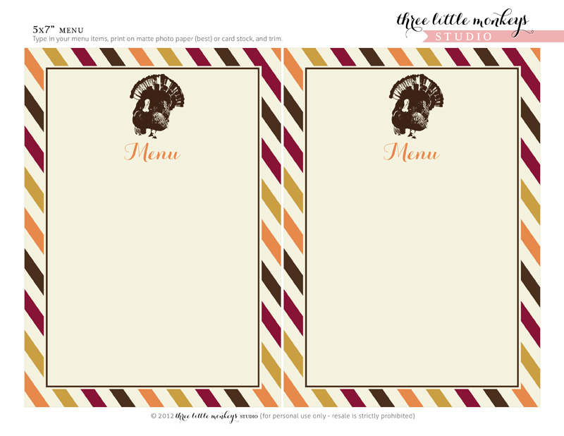 photo relating to Printable Thanksgiving Menu identify Down load This kind of Cost-free Thanksgiving Printables for the Excellent