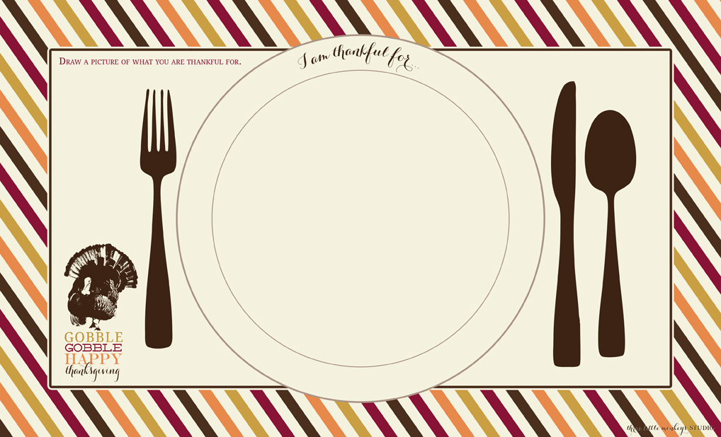FREE Thanksgiving Printables From Three Little Monkeys Studio Catch My Party