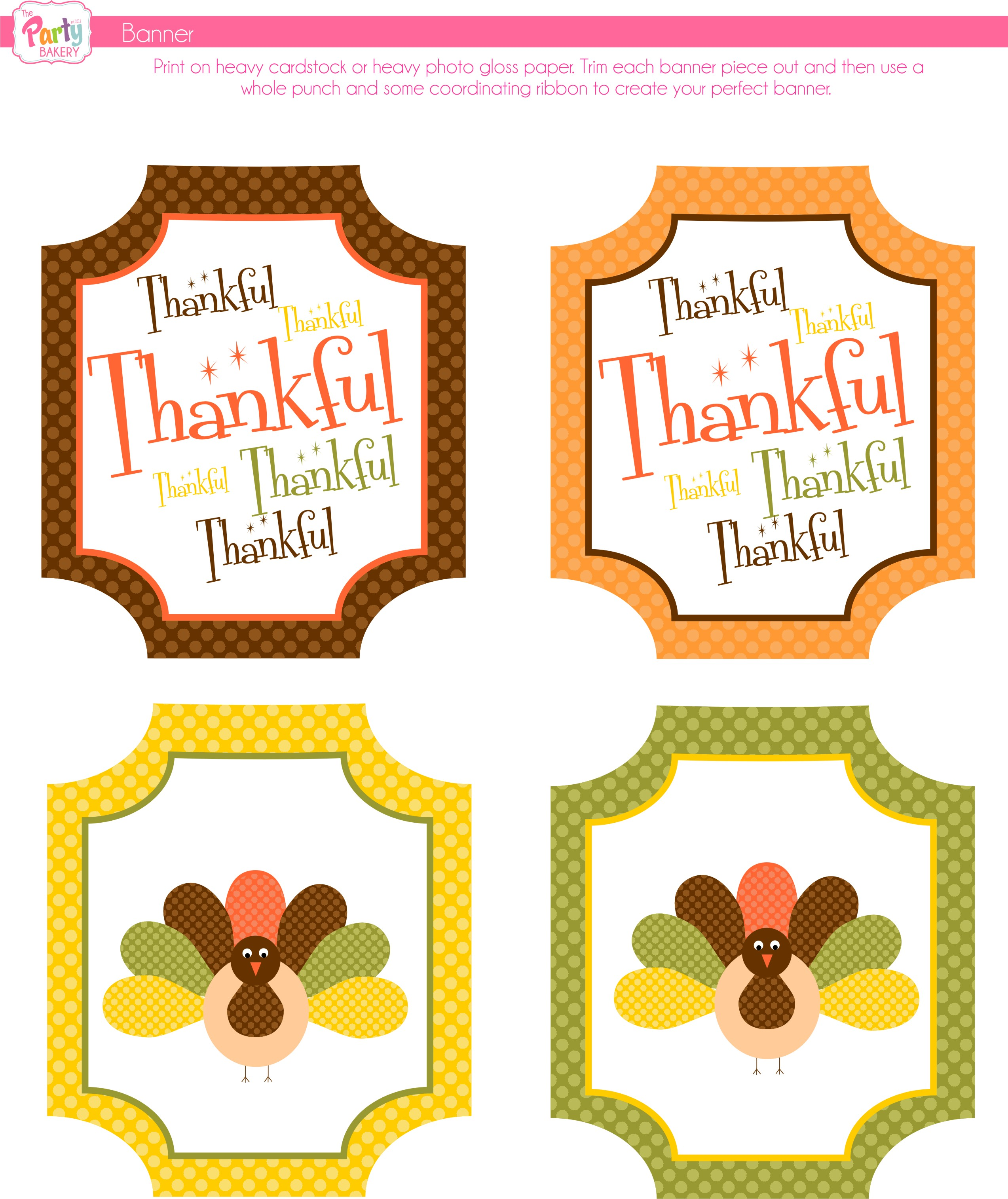 photo regarding Printable Thanksgiving Banners named Cost-free Thanksgiving Printables towards The Get together Bakery Capture