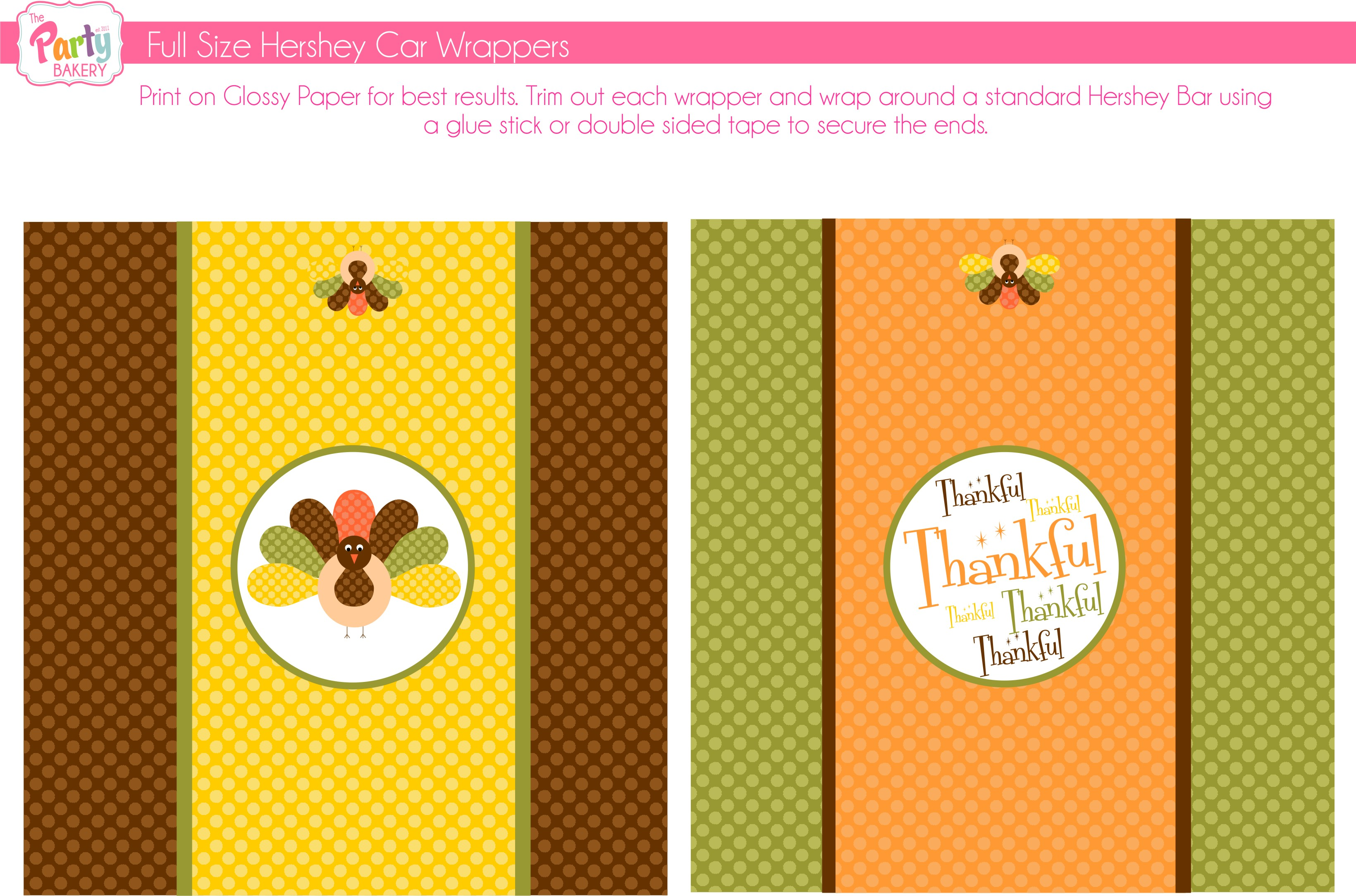 free thanksgiving printables from the party bakery catch my party
