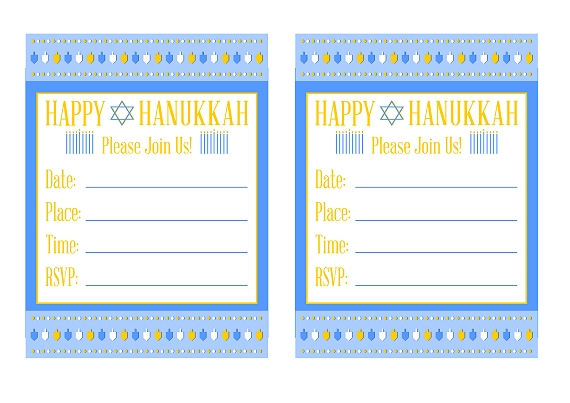 Download the free Hanukkah printables here!