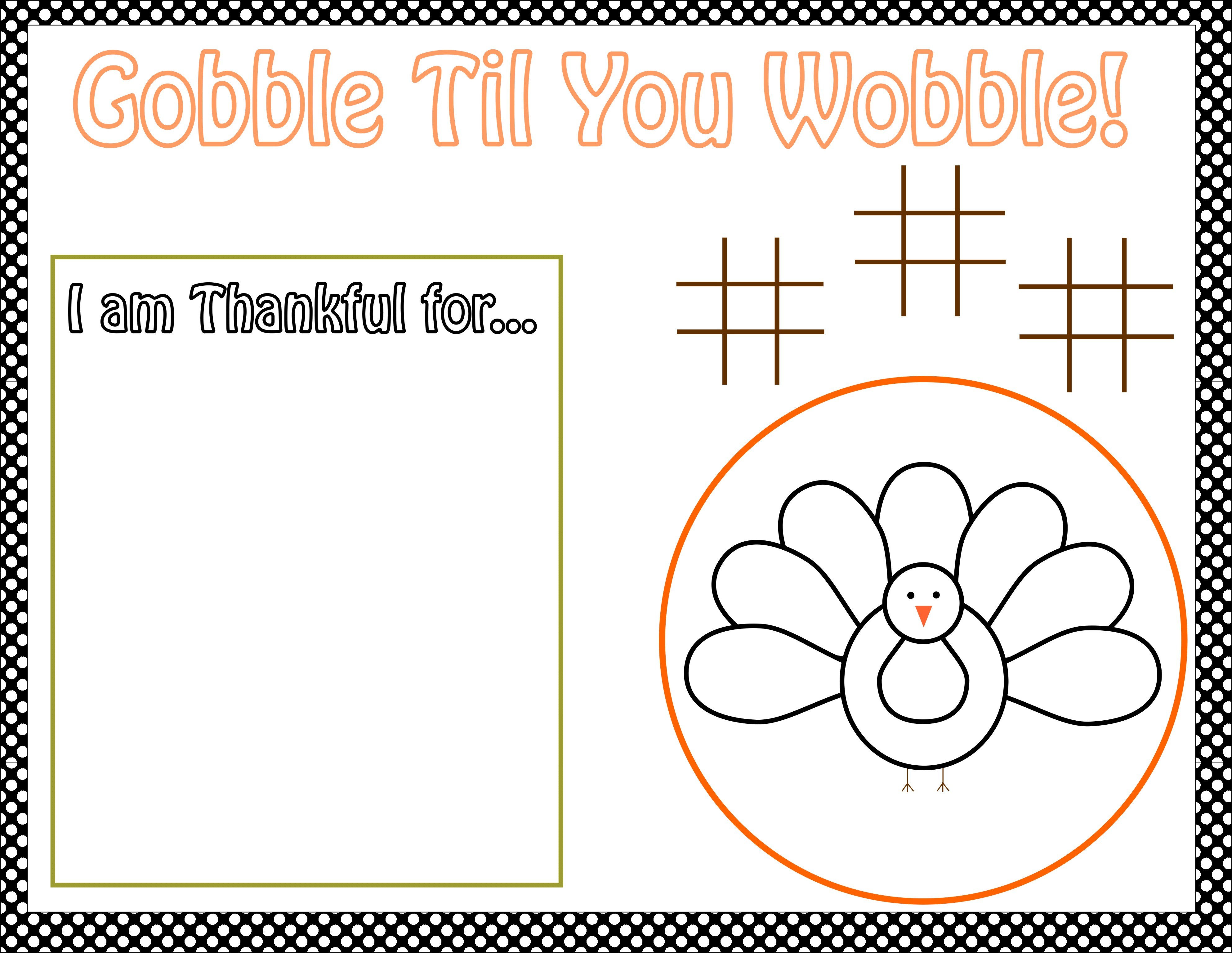 image about Printable Thanksgiving Activity identified as Totally free Thanksgiving Printables in opposition to The Bash Bakery Capture