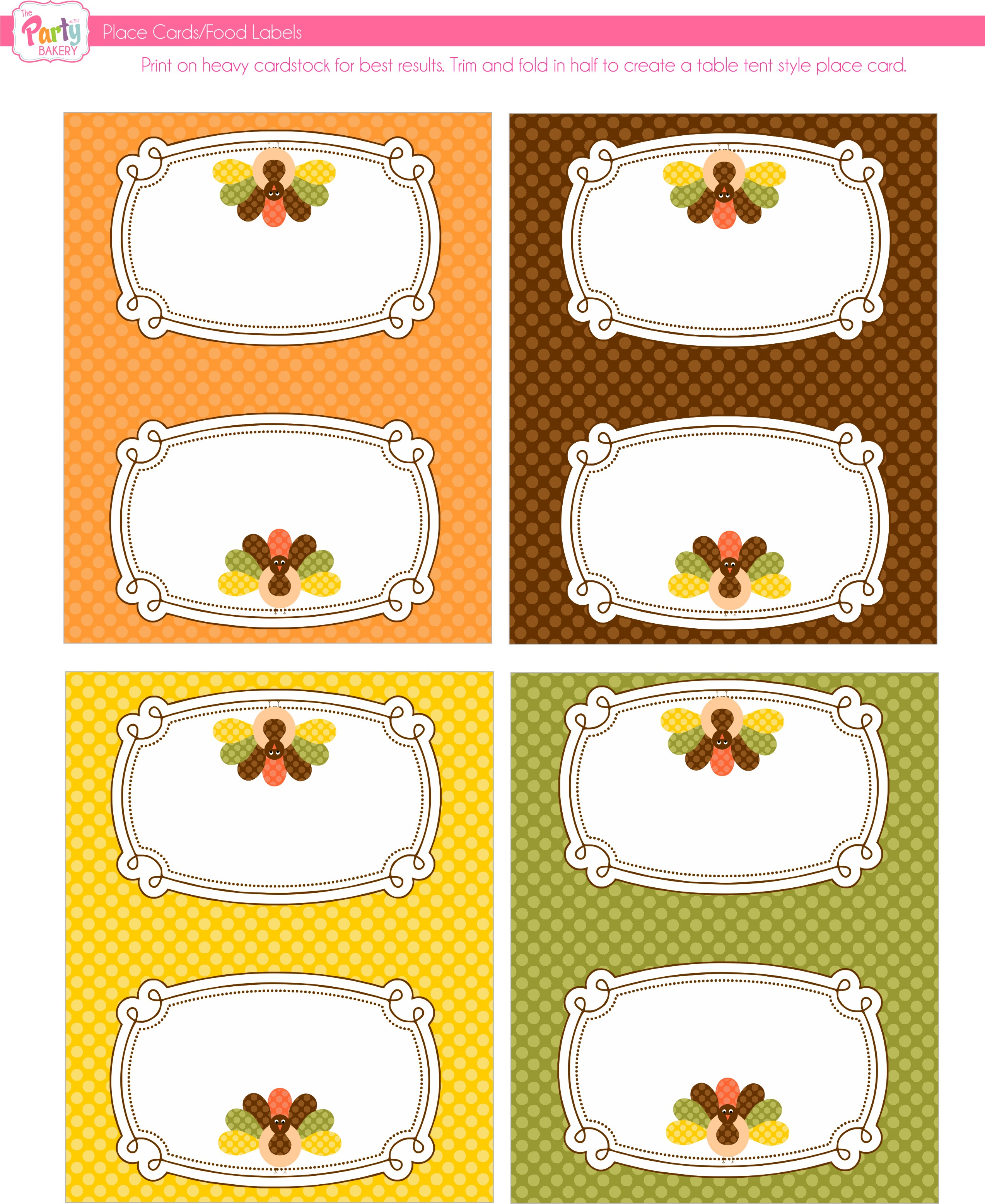 Divine image within printable thanksgiving name cards