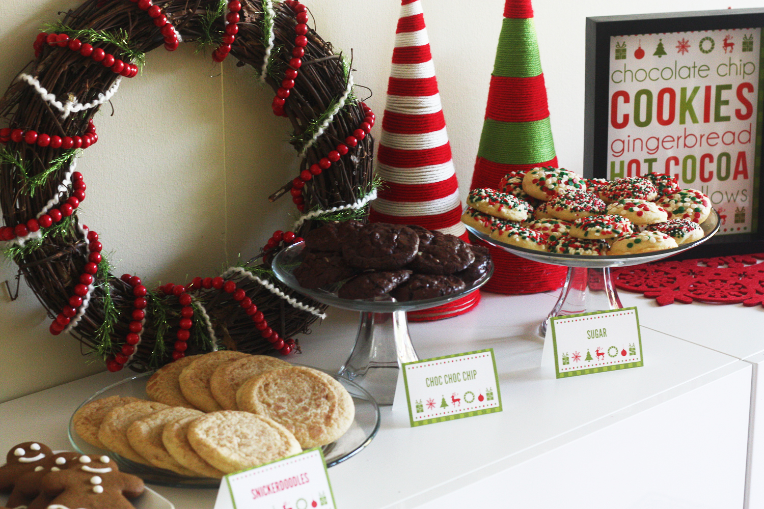 Amazing Christmas Cookie Party Ideas Part - 4: Download The Free Cookies And Cocoa Printables Here!