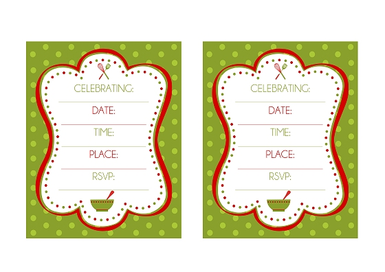 FREE Holiday Baking Party Printables from Printabelle | Catch My Party