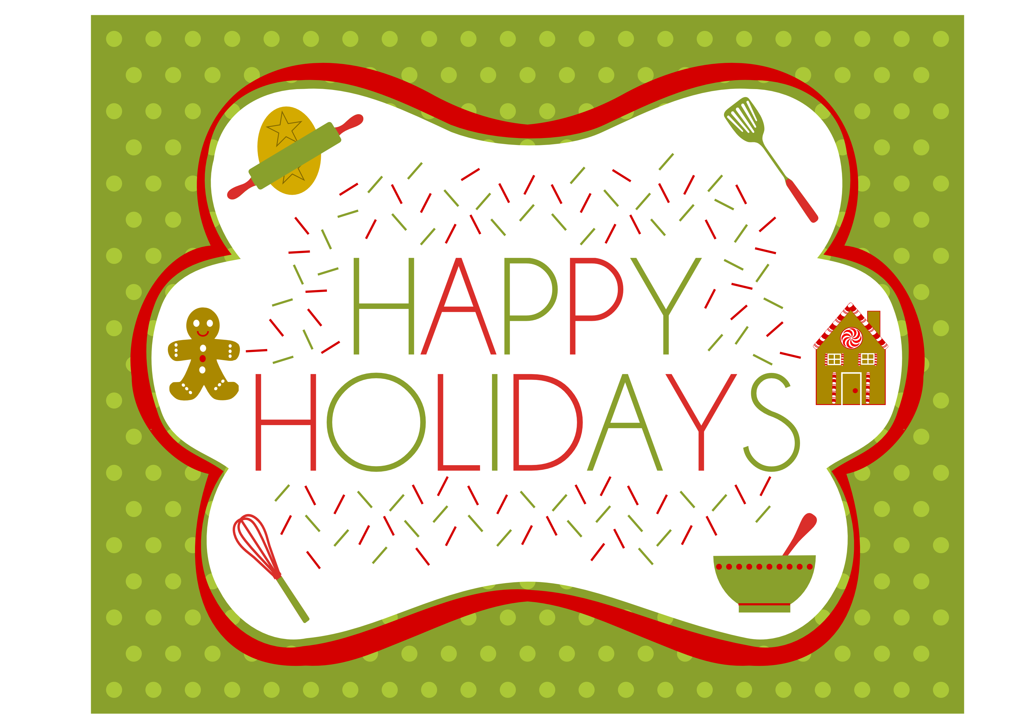 image about Happy Holidays Banner Printable known as Cost-free Trip Baking Bash Printables in opposition to Printabelle