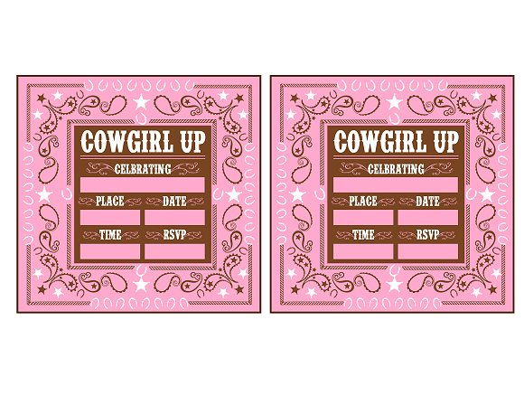 cowgirlinvitations free cowgirl birthday party printables from printabelle catch my,Free Printable Cowgirl Birthday Invitations