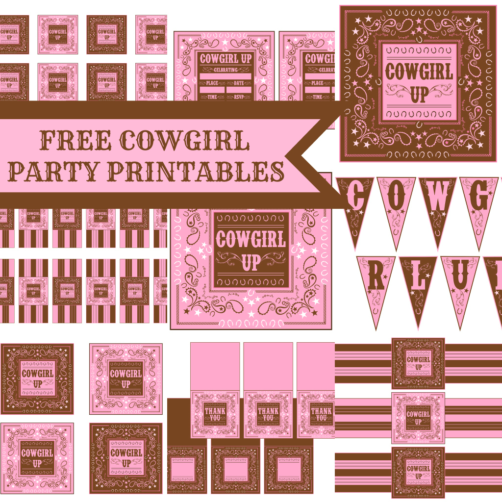 free cowgirl birthday party printables from printabelle | catch my, Party invitations