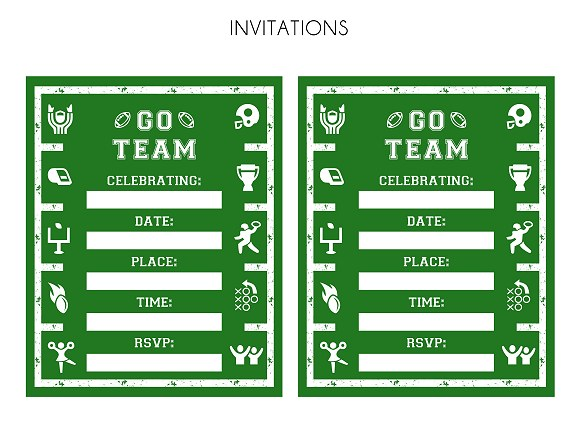 Impeccable image throughout free printable football invitations