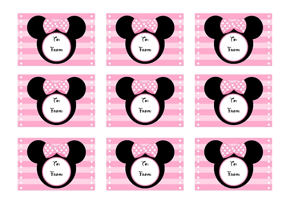 Minnie Mouse Party Printables Free pink minnie mouse birthday party ...