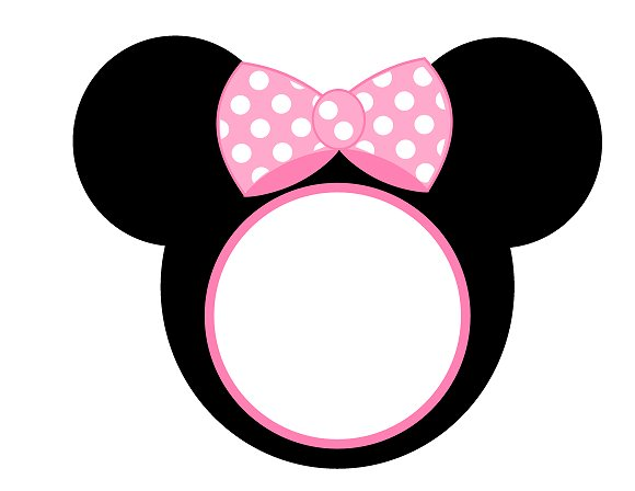Sweet image for minnie mouse face template printable