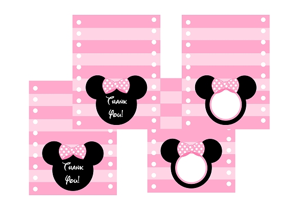 free pink minnie mouse birthday party printables