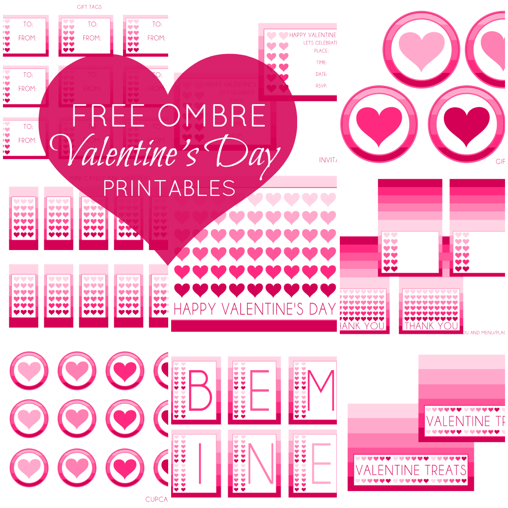 free valentine 39 s day party printables from printabelle catch my party. Black Bedroom Furniture Sets. Home Design Ideas