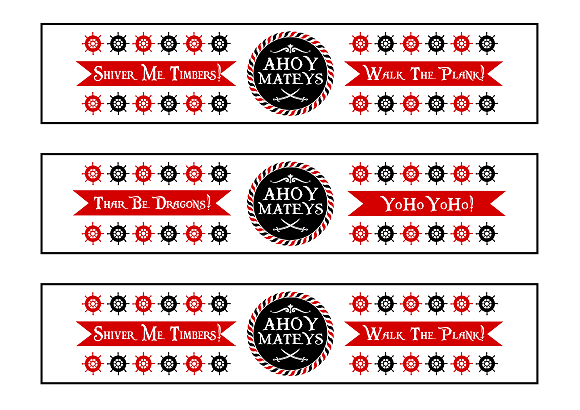 FREE Pirate Birthday Party Printables from Printabelle – Free Wine Bottle Label Template