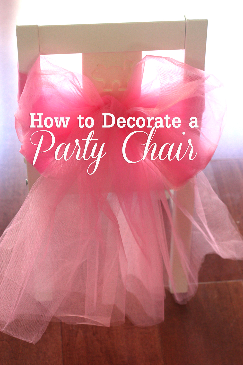 Princess Party Chair Decorations
