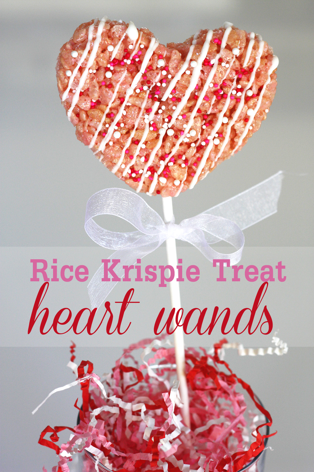 DIY} How to Make Rice Krispie Treat Heart Wands