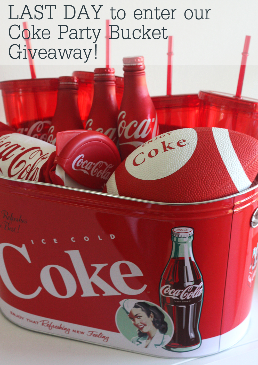 Giveaway Win A Coke Super Bowl Party Bucket Worth 100