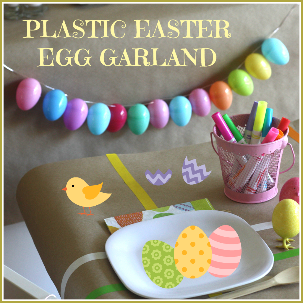 Plastic Easter Egg Garland Craft Catch My Party