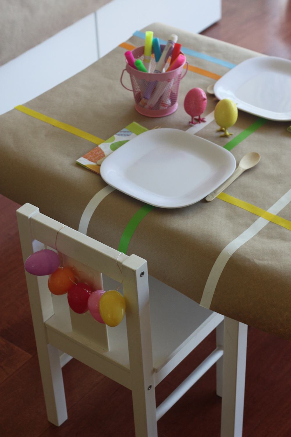Arts and crafts table linens - My Arts Crafts Easter Brunch Table