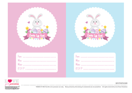 Free Easter Party Printables From Love Party Printables  Catch My
