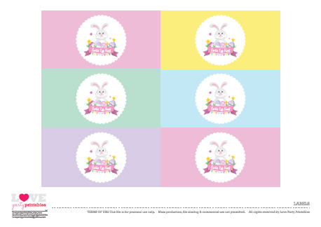 Easter Printables Free easter party printables