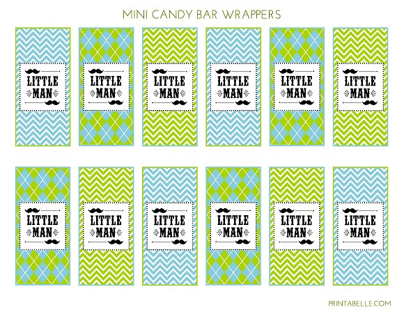 FREE Little Man Mustache Bash Party Printables from Printabelle | Catch My Party