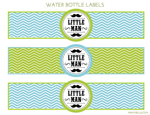 free little man mustache bash party printables from printabelle