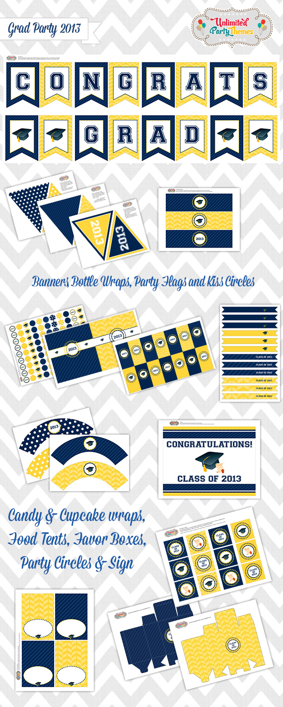 free graduation party printables from unlimited party themes catch