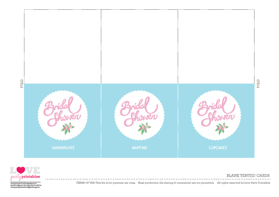FREE Bridal Shower Party Printables from Love Party Printables ...