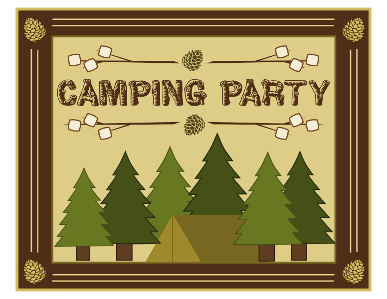 download the free camping printables here - Camping Party Invitations