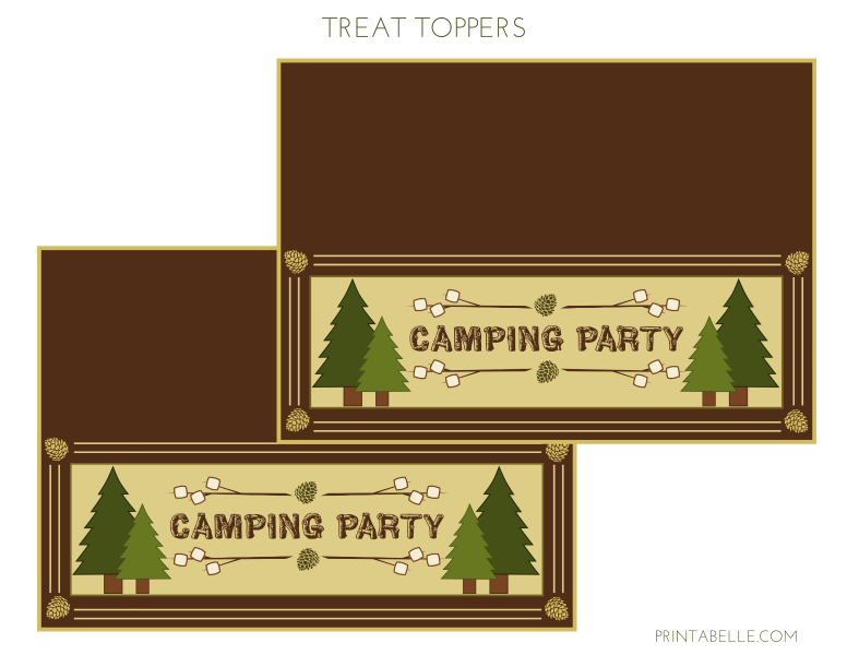 Free Camping Party Printables From Printabelle Catch My