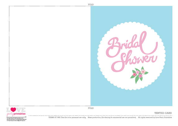 free bridal shower party printables from love party With wedding shower card printable free