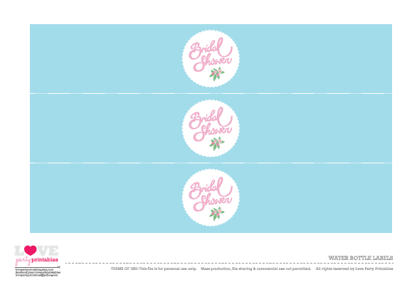 free bridal shower party printables from love party printables catch my party
