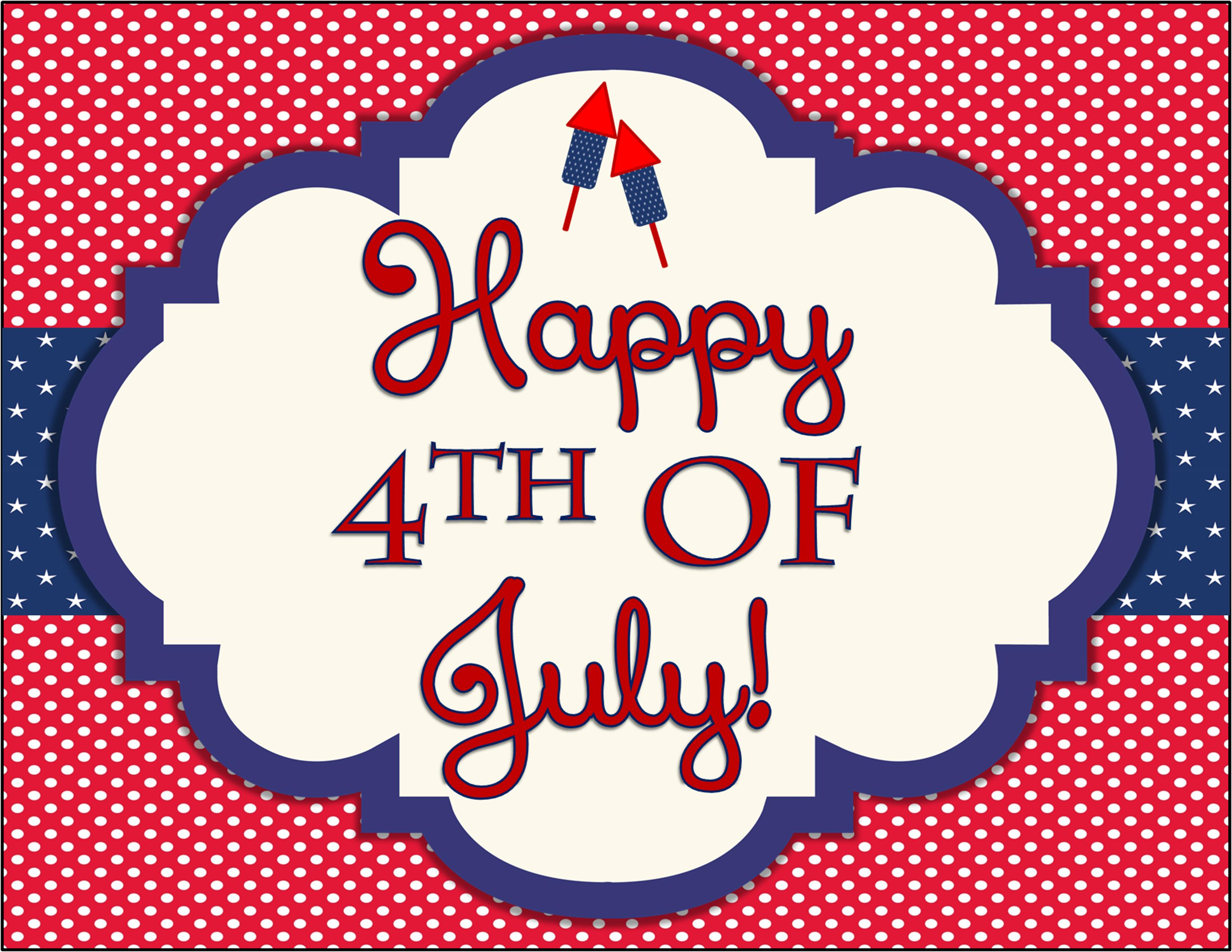 FREE 4th of July Party Printables by Designs by ...