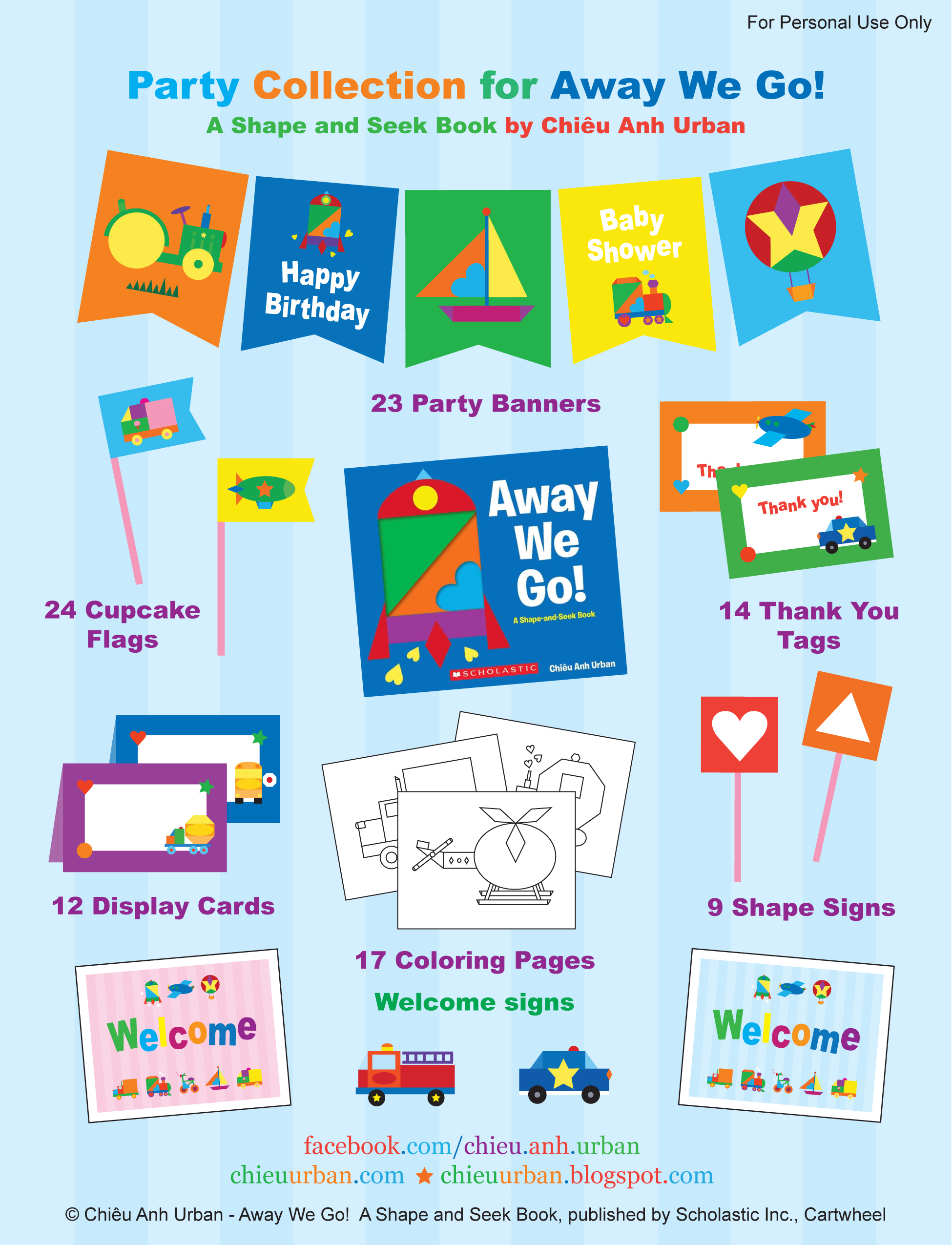 Away We Go Transportation Party Printables Coloring Pages From Chieu Urban