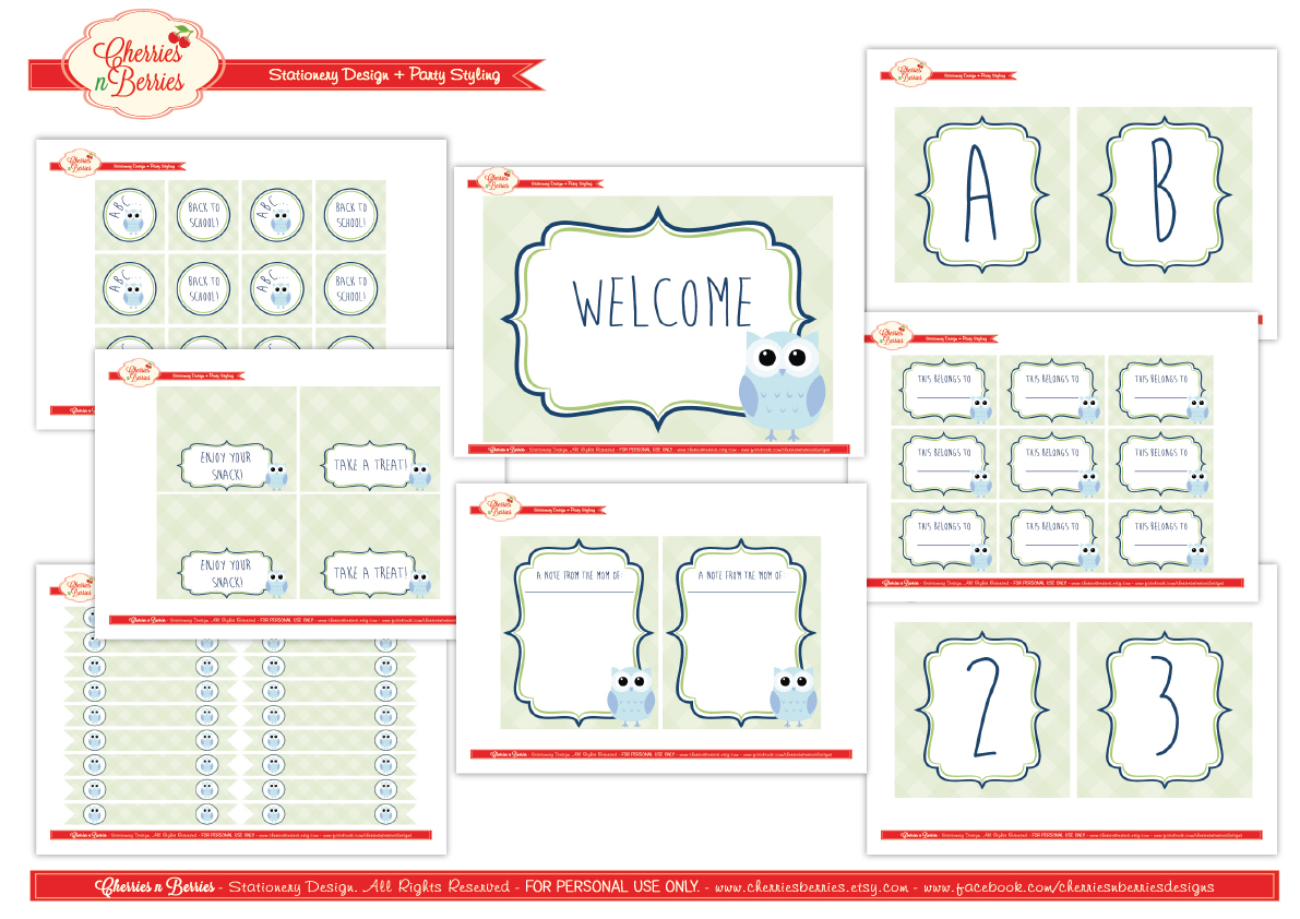 free back to school printables from cherries n berries catch my party