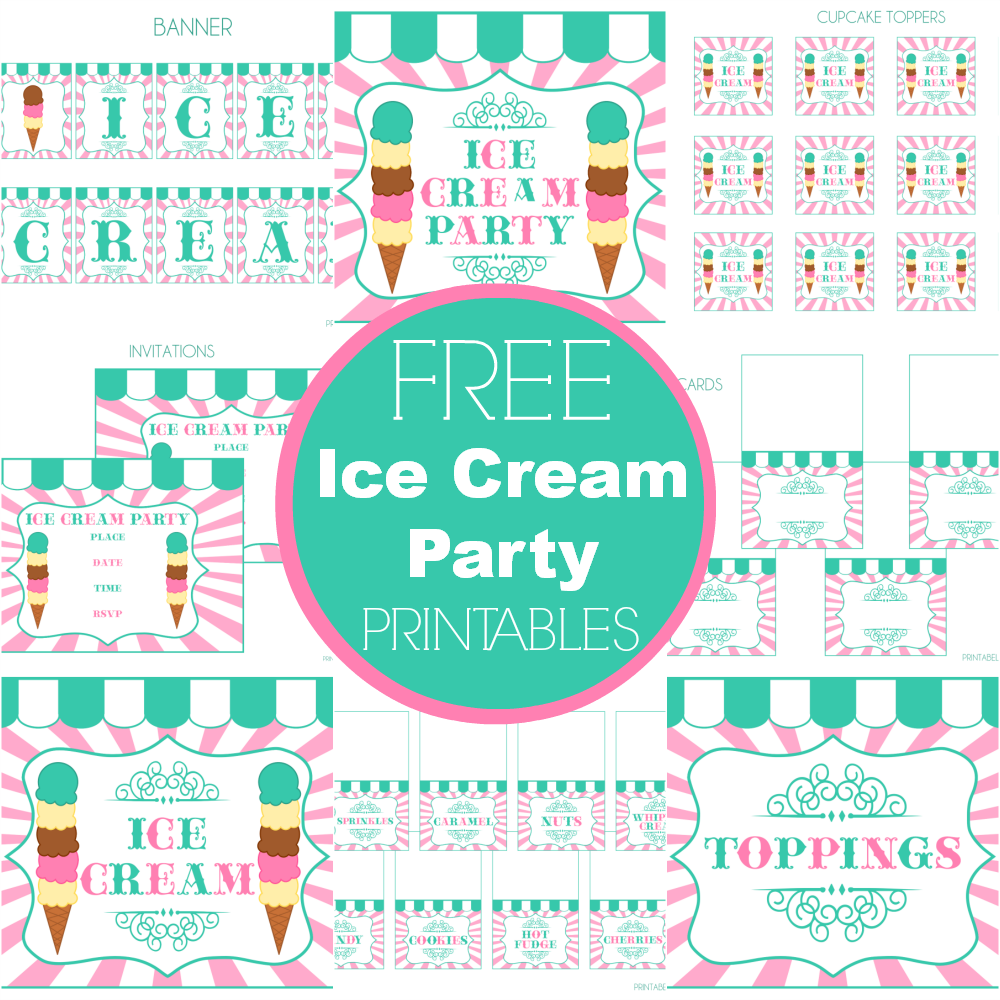 FREE Ice Cream Party Printables from Printabelle... Perfect for ...