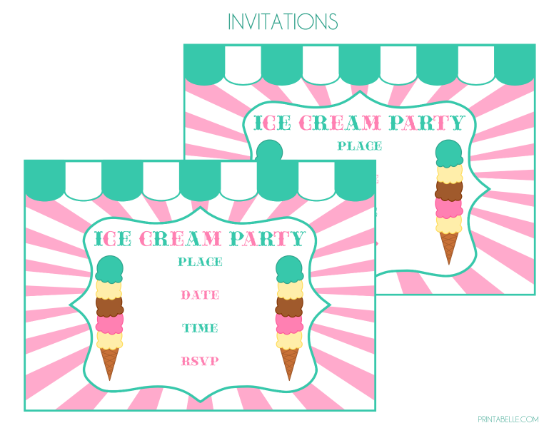 Download The Free Ice Cream Printables Here