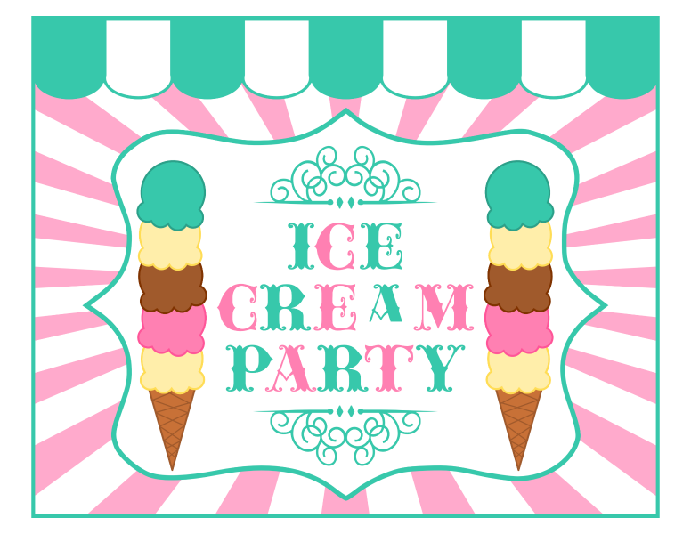 free ice cream party printables from printabelle perfect for