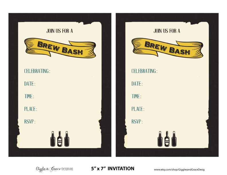 FREE Beer Tasting Party Printables from Giggles & Grace ...
