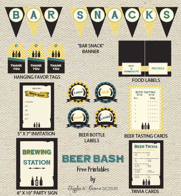 FREE Beer Tasting Party Printables From Giggles Grace Designs