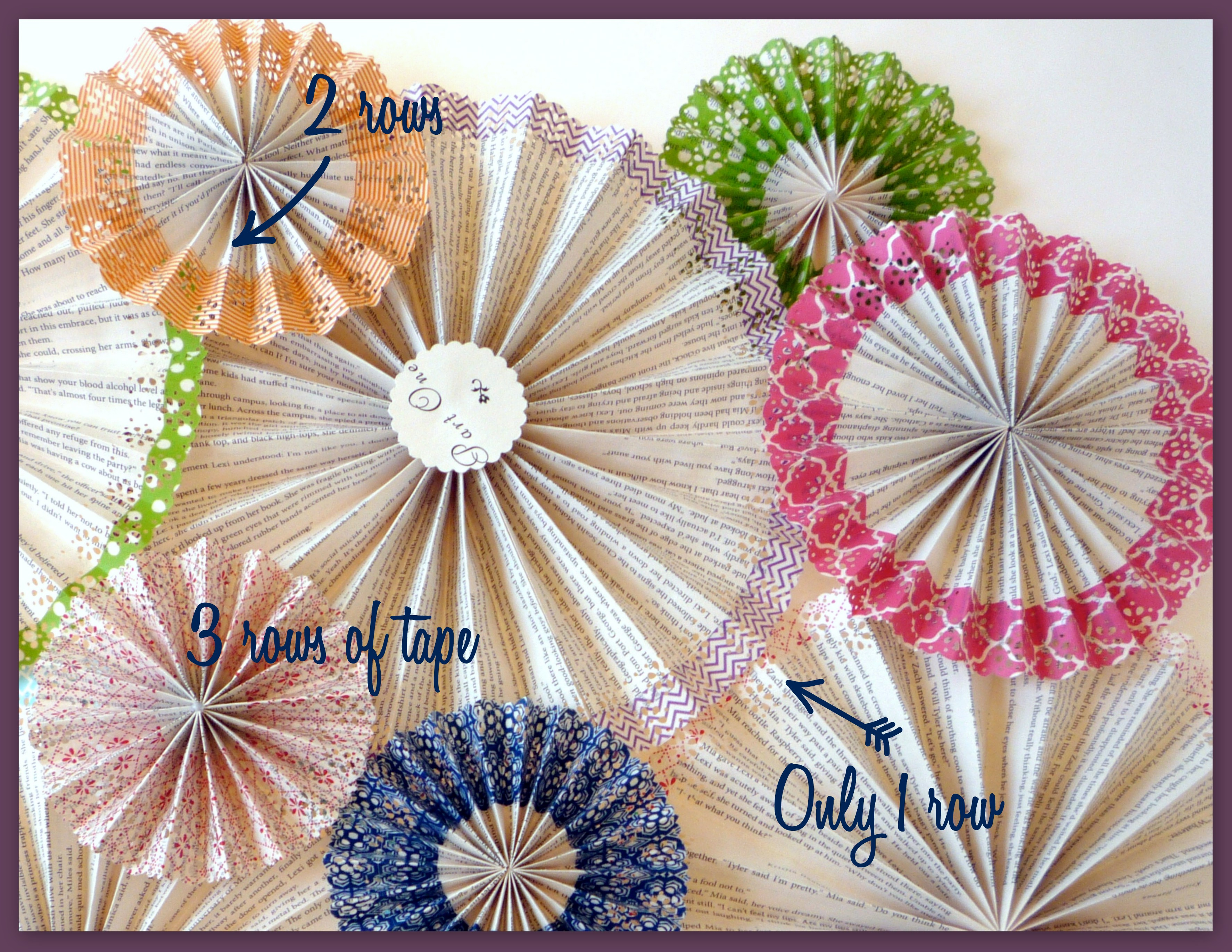 Washi Tape Embellished Paper Medallions {DIY} | Catch My Party