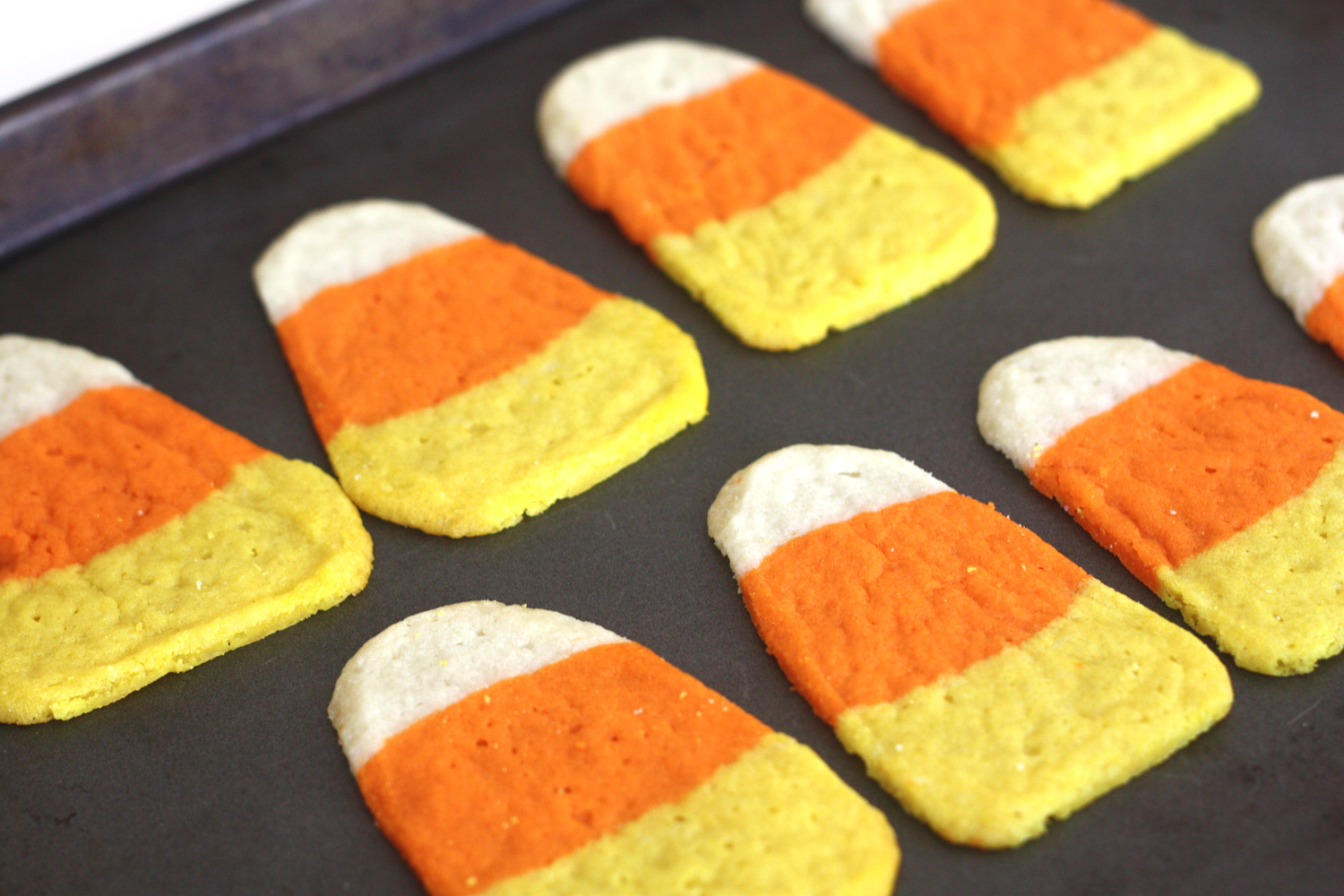 ... the sides with a pizza cutter to make them look more like candy corn