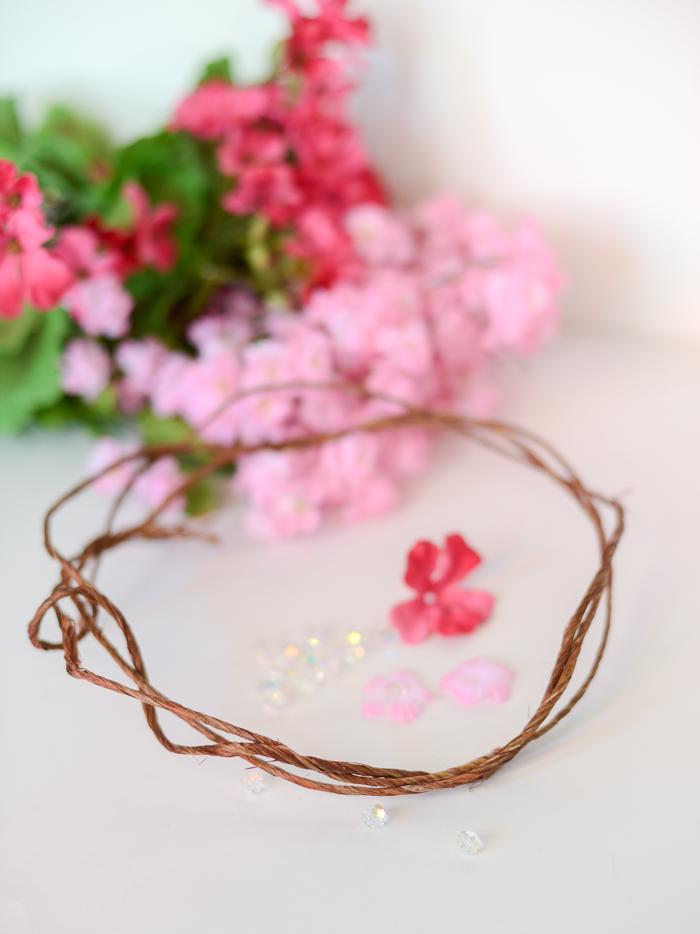 Set of 2 Grapevine DIY headband base make your own fairy flower crowns just add florals bark  wire wreaths twine Wedding accessories
